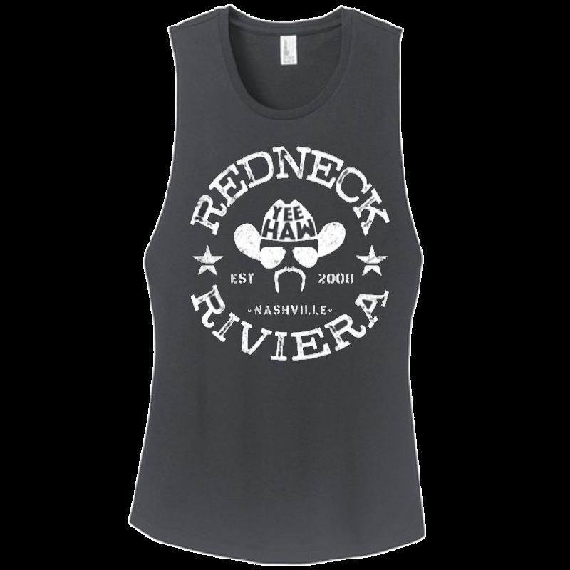 Redneck Riviera Ladies Charcoal Yee Haw Tank