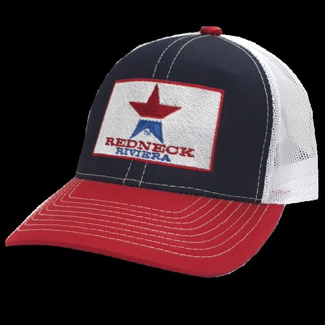 Redneck Riviera Navy, Red and White Ballcap