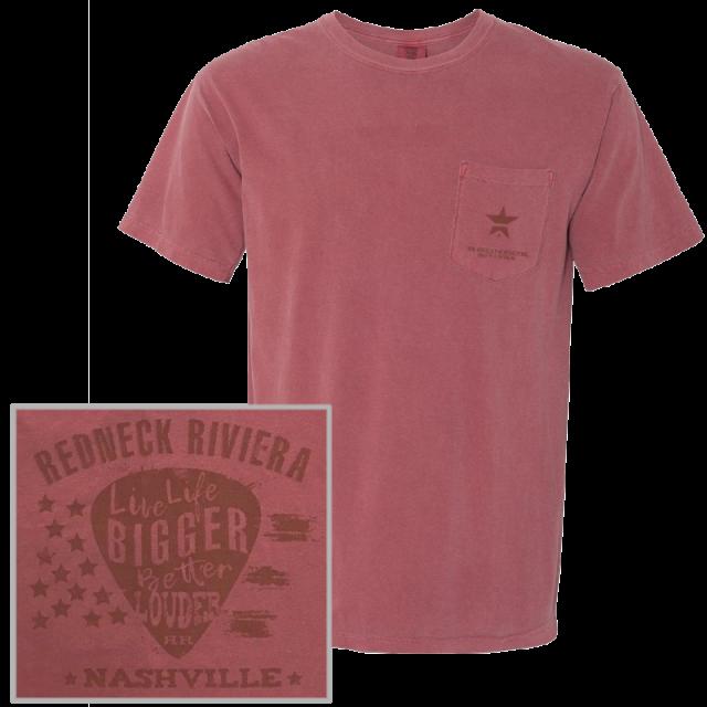 Redneck Riviera Unisex Brick Pocket Tee