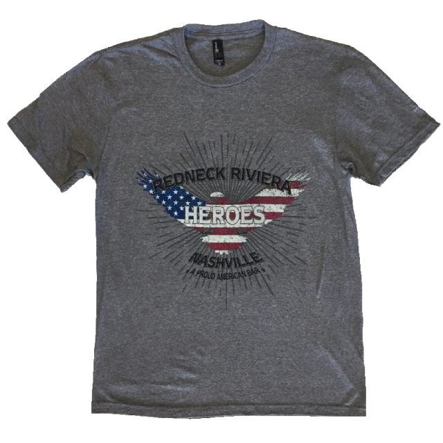 Redneck Riveria Grey Frost Proud American Bar Tee