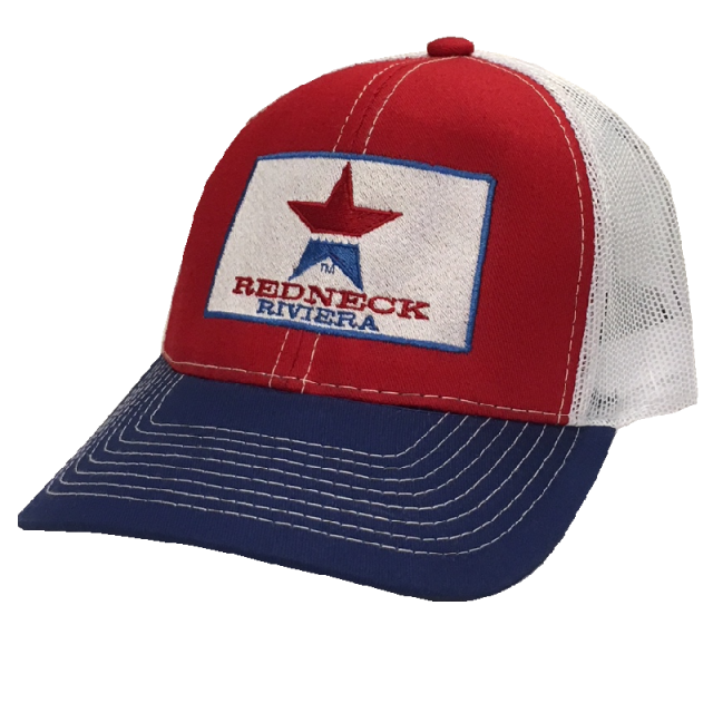 Redneck Riviera Red, Royal and White Ballcap