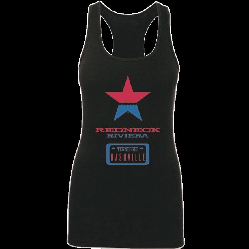 Redneck Riviera Ladies Black Logo Server Tank