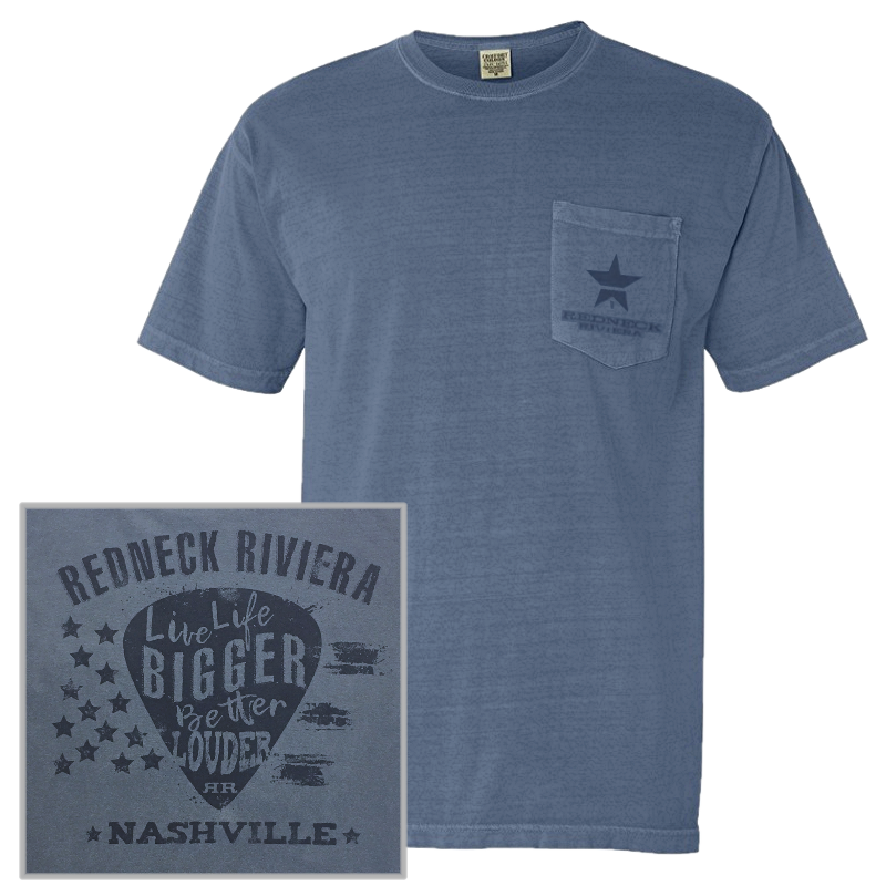 Redneck Riviera Unisex Blue Jean Pocket Tee
