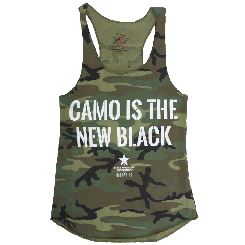 Redneck Riveria Ladies Camo Is the New Black Tank