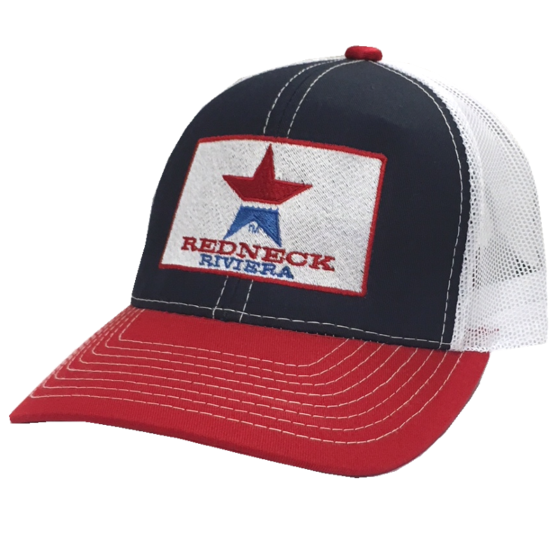 Redneck Riviera Navy, Red and White Ballcap