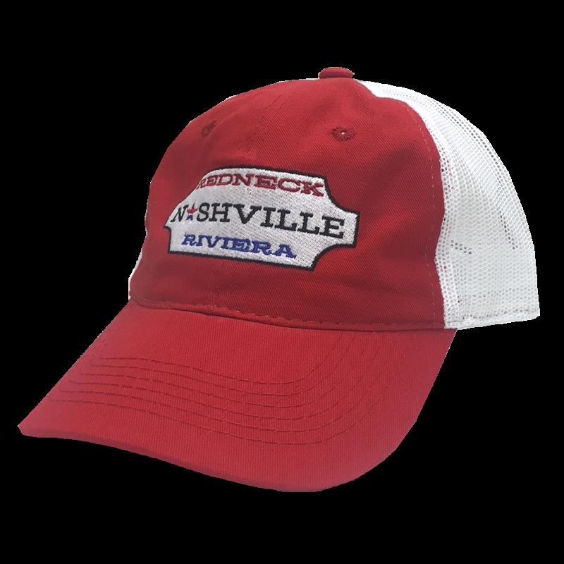 Redneck Riviera Red and White Nashville Ballcap