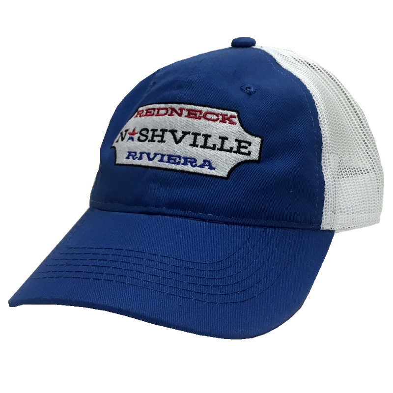 Redneck Riviera Royal and White Nashville Ballcap