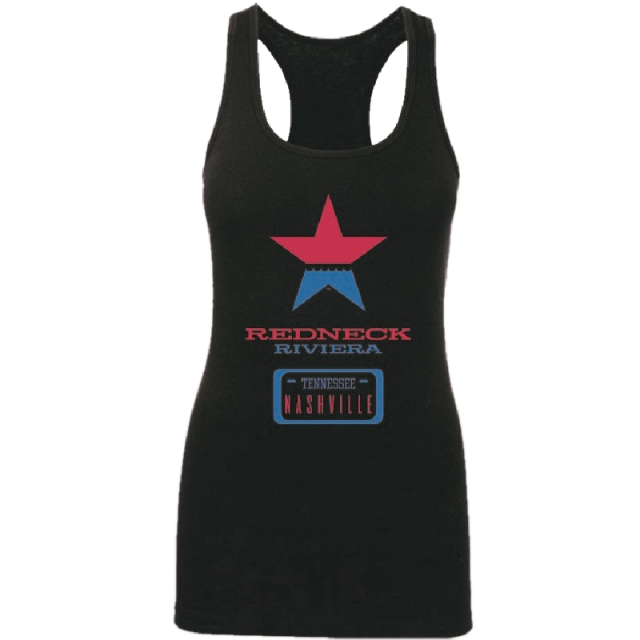 Redneck Riviera Ladies Black Logo Server Tank