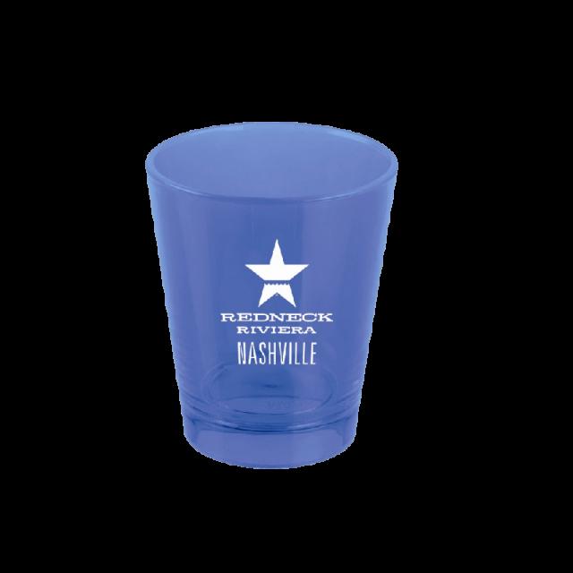 Redneck Riviera Blue Plastic Shotglass