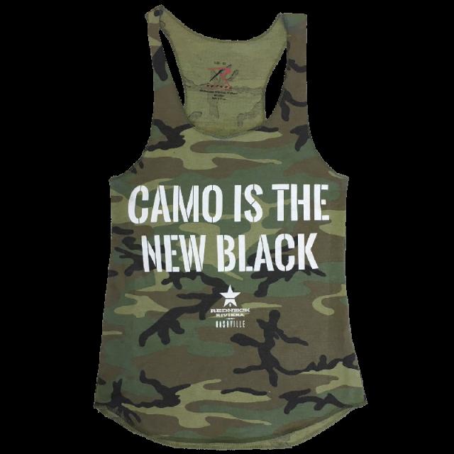 Redneck Riveria Ladies Camo Is the New Black Tank
