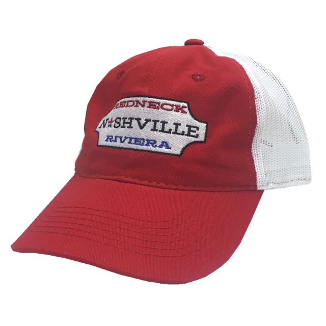 Redneck Riviera Red and White Nashville Ballcap