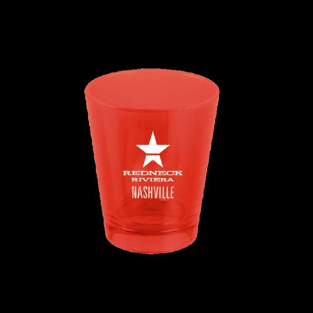 Redneck Riviera Red Plastic Shotglass