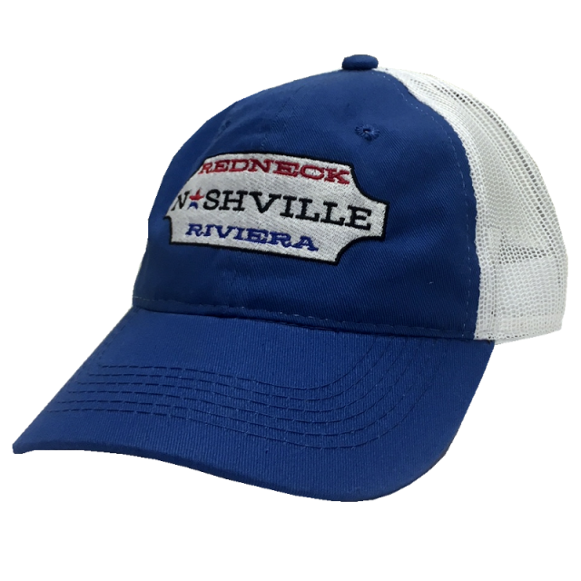 Redneck Riviera Royal and White Nashville Ballcap